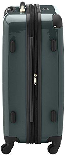 HAUPTSTADTKOFFER - Alex - Hartschalen-Koffer Koffer Trolley Rollkoffer Reisekoffer Erweiterbar, 4 Rollen, TSA, 65 cm, 74 Liter, Waldgrün - 4