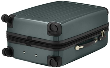 HAUPTSTADTKOFFER - Alex - Hartschalen-Koffer Koffer Trolley Rollkoffer Reisekoffer Erweiterbar, 4 Rollen, TSA, 65 cm, 74 Liter, Waldgrün - 5