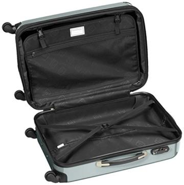 HAUPTSTADTKOFFER - Alex - Hartschalen-Koffer Koffer Trolley Rollkoffer Reisekoffer Erweiterbar, 4 Rollen, TSA, 65 cm, 74 Liter, Waldgrün - 6