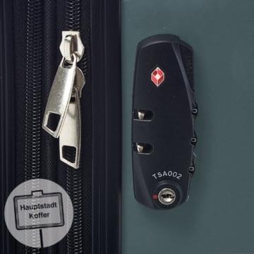 HAUPTSTADTKOFFER - Alex - Hartschalen-Koffer Koffer Trolley Rollkoffer Reisekoffer Erweiterbar, 4 Rollen, TSA, 65 cm, 74 Liter, Waldgrün - 7