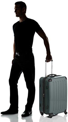 HAUPTSTADTKOFFER - Alex - Hartschalen-Koffer Koffer Trolley Rollkoffer Reisekoffer Erweiterbar, 4 Rollen, TSA, 65 cm, 74 Liter, Waldgrün - 8