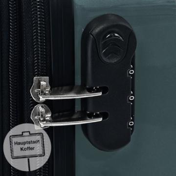 HAUPTSTADTKOFFER - Alex - Hartschalen-Koffer Koffer Trolley Rollkoffer Reisekoffer Erweiterbar, 4 Rollen, 75 cm, 119 Liter, Waldgrün - 7