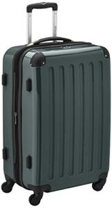 HAUPTSTADTKOFFER - Alex - Hartschalen-Koffer Koffer Trolley Rollkoffer Reisekoffer Erweiterbar, 4 Rollen, TSA, 65 cm, 74 Liter, Waldgrün - 1
