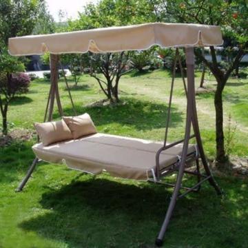Hollywoodschaukel Gartenschaukel Moderne Gartenliege Outdoor Schaukelbank mit Liegefunktion 190x135x170cm JL10B - 1