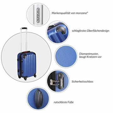 Monzana Hartschalenkoffer Trolley   mit Schloss   4 Rollen   Alu-Teleskopgriff   Handgepäck Hartschale Reisekoffer Business Koffer - 2