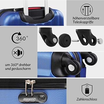 Monzana Hartschalenkoffer Trolley   mit Schloss   4 Rollen   Alu-Teleskopgriff   Handgepäck Hartschale Reisekoffer Business Koffer - 5