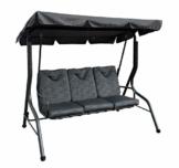 Pure Home & Garden 3-Sitzer XXL Hollywoodschaukel Swing, wetterfeste Outdoor Polsterung - 1