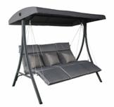 Pure Home & Garden 3-Sitzer XXL Hollywoodschaukel Vippe, ergonomisch geformt - 1