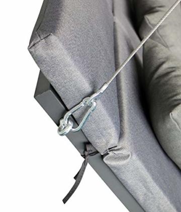 Pure Home & Garden 3-Sitzer XXL Hollywoodschaukel Vippe, ergonomisch geformt - 3