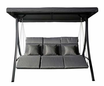 Pure Home & Garden 3-Sitzer XXL Hollywoodschaukel Vippe, ergonomisch geformt - 5