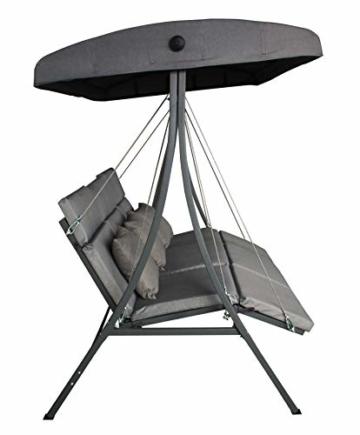 Pure Home & Garden 3-Sitzer XXL Hollywoodschaukel Vippe, ergonomisch geformt - 6