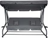 Pure Home & Garden 4-Sitzer XXL Hollywoodschaukel mit Liegefunktion Askim Anthrazit, einfach klappbar, 232 cm - 1