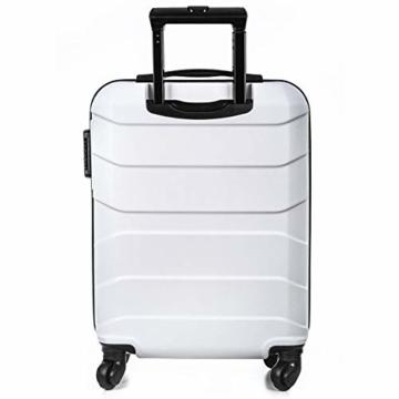 Sommerson Handgepäck Basic M - 4-Rollen Hartschalen-Koffer Trolley Rollkoffer Reisekoffer aus hochwertigem ABS Kunststoff, 55x40x20 cm, Zahlenschloss, 34 L (Weiß) - 3