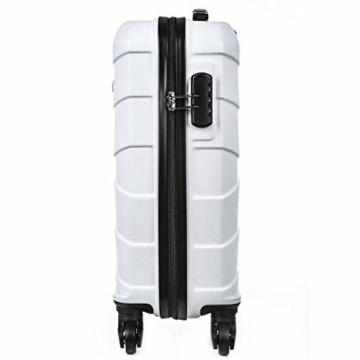 Sommerson Handgepäck Basic M - 4-Rollen Hartschalen-Koffer Trolley Rollkoffer Reisekoffer aus hochwertigem ABS Kunststoff, 55x40x20 cm, Zahlenschloss, 34 L (Weiß) - 4