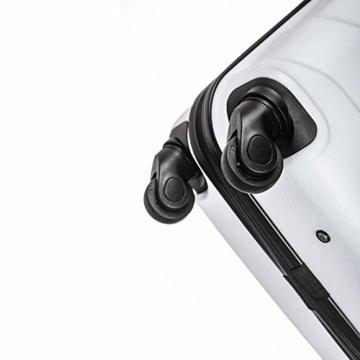 Sommerson Handgepäck Basic M - 4-Rollen Hartschalen-Koffer Trolley Rollkoffer Reisekoffer aus hochwertigem ABS Kunststoff, 55x40x20 cm, Zahlenschloss, 34 L (Weiß) - 6