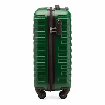WITTCHEN Koffer – Handgepäck | hartschalen, Material: ABS | hochwertiger und Stabiler | Grün | 38 L | 54x39x23 cm - 2