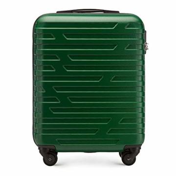 WITTCHEN Koffer – Handgepäck | hartschalen, Material: ABS | hochwertiger und Stabiler | Grün | 38 L | 54x39x23 cm - 1