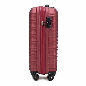 WITTCHEN Koffer – Handgepäck   hartschalen, Material: ABS   hochwertiger und Stabiler   Rot   34 L   54x20x38 cm - 2