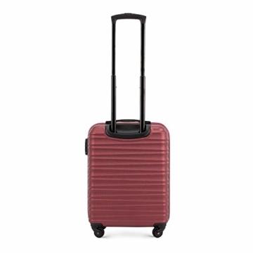 WITTCHEN Koffer – Handgepäck   hartschalen, Material: ABS   hochwertiger und Stabiler   Rot   34 L   54x20x38 cm - 3