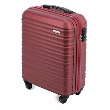 WITTCHEN Koffer – Handgepäck   hartschalen, Material: ABS   hochwertiger und Stabiler   Rot   34 L   54x20x38 cm - 4