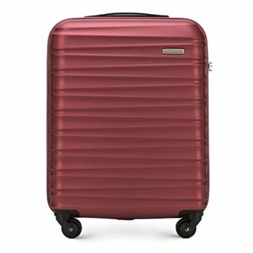 WITTCHEN Koffer – Handgepäck   hartschalen, Material: ABS   hochwertiger und Stabiler   Rot   34 L   54x20x38 cm - 1