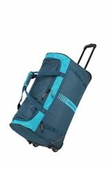 travelite 2-Rad Trolley Reisetasche Größe L, Gepäck Serie Basics Active: Weichgepäck Reisetasche mit Rollen im frischen Design, 096281-22, 71 cm, 86 Liter, Petrol/orange - 1